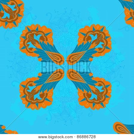 Decorative abstract pattern with scroll