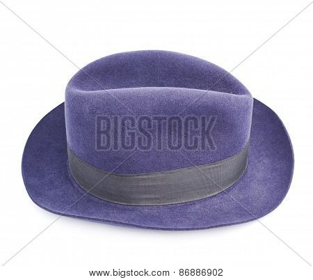 Dark blue hat isolated
