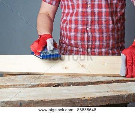 Polishing wooden board composition