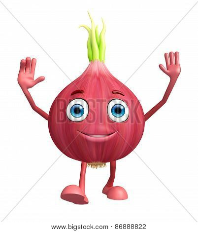 Onion Character With Running Pose