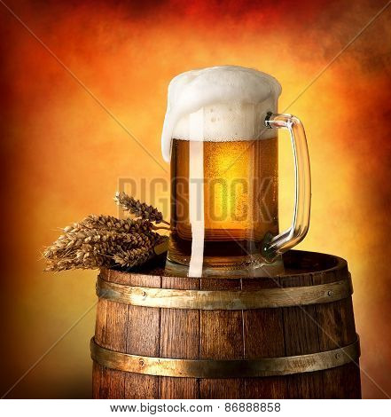 Lager on barrel