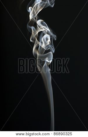 Abstract Smoke Art On Black Background