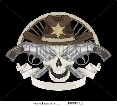 Illustration of Sheriff's skull.