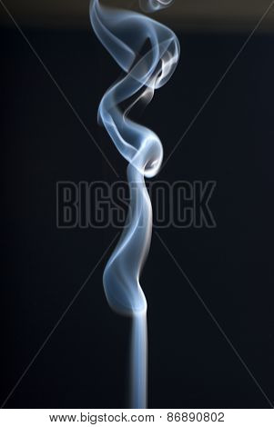 Abstract Smoke Art On Black Background