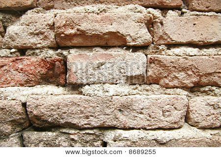 Stack of old Brick wall