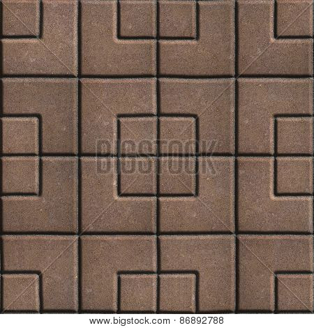 Brown Pavement - Squares of Different Sizes.