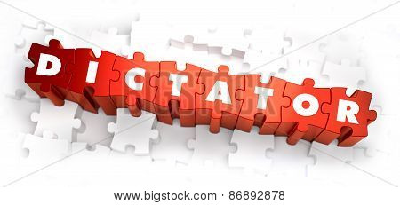 Dictator - Text on Red Puzzles.