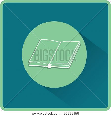 Open book. Flat vector icon