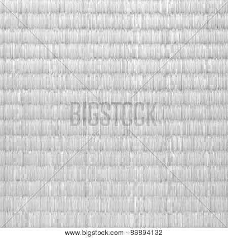white bamboo mat