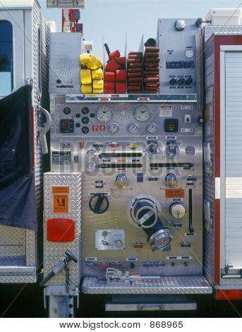 Fire engine closeup