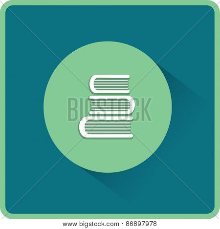 Education book. Flat vector icon
