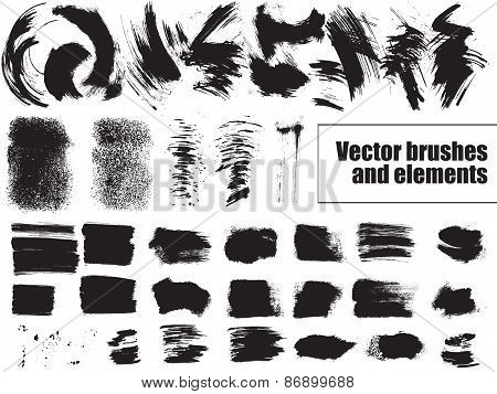Set of grunge background. Vector.