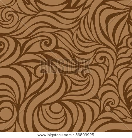 Wave vector seamless hand drawn pattern