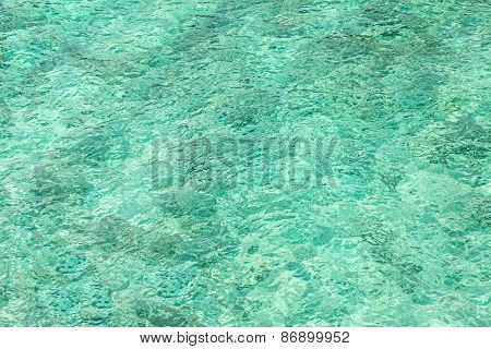Abstract Background Made Of Crystal Clear Water.
