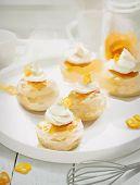 picture of kumquat  - Kumquat Muffins On White Plate - JPG