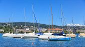 pic of zurich  - Yachts on Lake Zurich view from the Zurich city in summer - JPG
