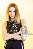 foto of black heel  - Elegant outfit - JPG