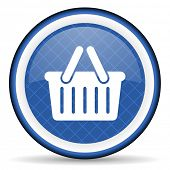 picture of cart  - cart blue icon shopping cart symbol  - JPG