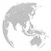 stock photo of mater  - Abstract dotted globe - JPG