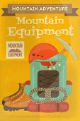 pic of boot camp  - Mountain Climbing Poster in Retro Style - JPG