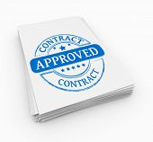 pic of covenant  - Stamp approved with stack documents white backdrop - JPG