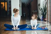 foto of two hearts  - Two girls of different ages makeing yoga - JPG