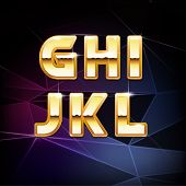 pic of swag  - Vector Golden Shiny Alphabet for your designs - JPG