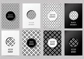 foto of rhombus  - Set of brochures in vintage style - JPG