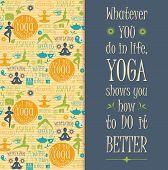 pic of pranayama  - Yoga background with yogic quote - JPG