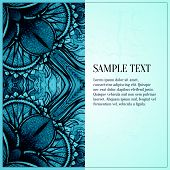 image of greeting card design  - Abstract vector ornament - JPG