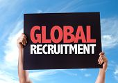 foto of recruiting  - Global Recruitment card with sky background - JPG