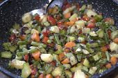 stock photo of legume  - organic and healthy vegetables and legumes chopped saut - JPG
