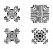 foto of tribal  - Set of Tribal and Ethnic Elements - JPG