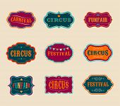 picture of funfair  - Vintage Hipster Circus labels set - JPG