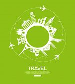 foto of world-famous  - concept of traveling around the world - JPG