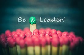pic of leadership  - One match standing out from the crowd leadership difference concept - JPG