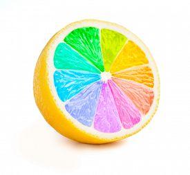 picture of color wheel  - Multi color vitamins diversity concept  - JPG