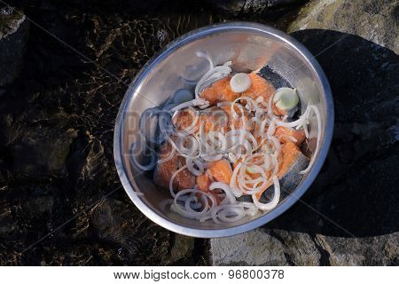 Marinated Fish In Bowl