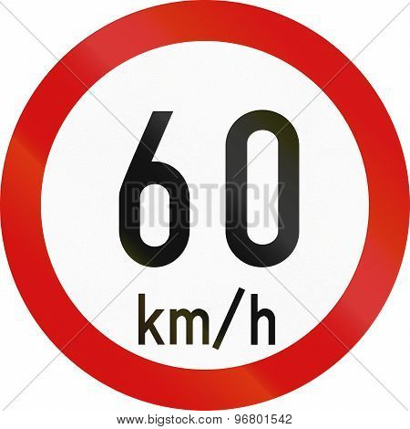 Speed Limit 60 In Ireland