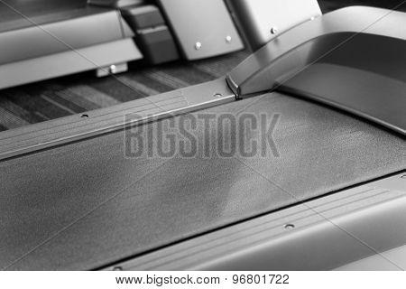 Treadmill Closeup On Running Path