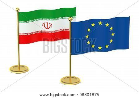 Meeting Eu With Iran Concept