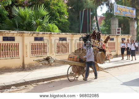Street cambodian vendor