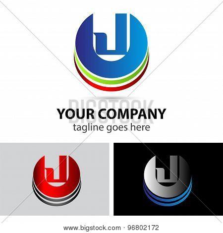 Letter J logo icon design template elementssymbol