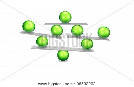 Balance With Green Balls, Balancing Concept