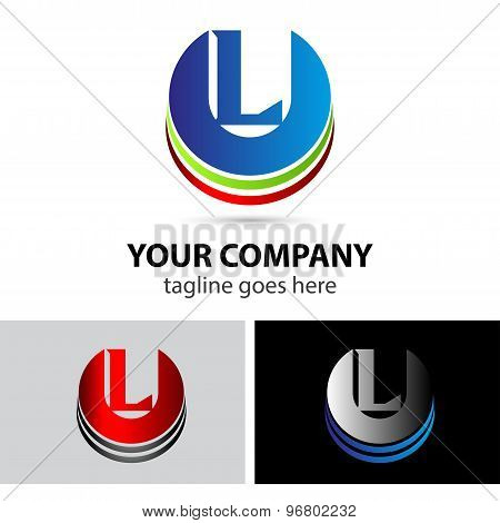 Letter L logo icon design template elements symbol