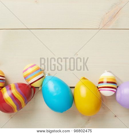 Easter eggs copyspace composition