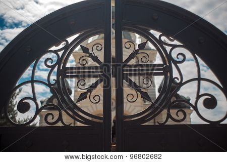 Black gate in Foros