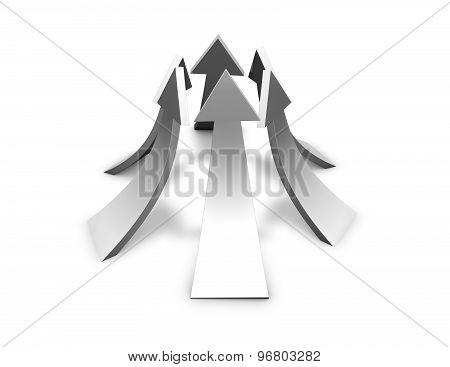 Up Arrows, Progress Concept