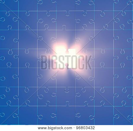 Textured Background With Puzzles And Light