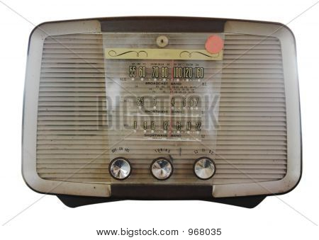 Isolated Vintage Radio